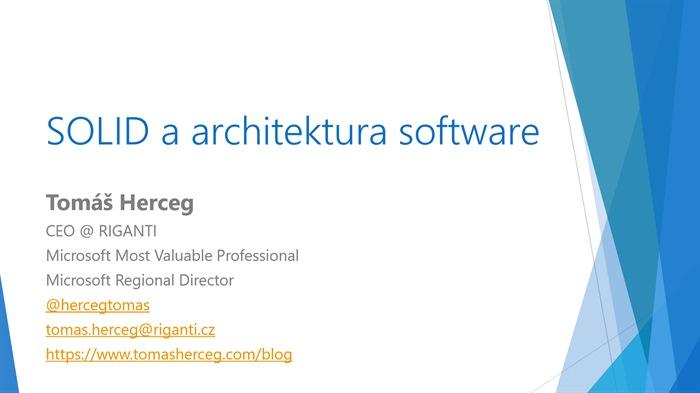 SOLID a architektura software