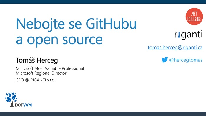 Nebojte se GitHubu a open source