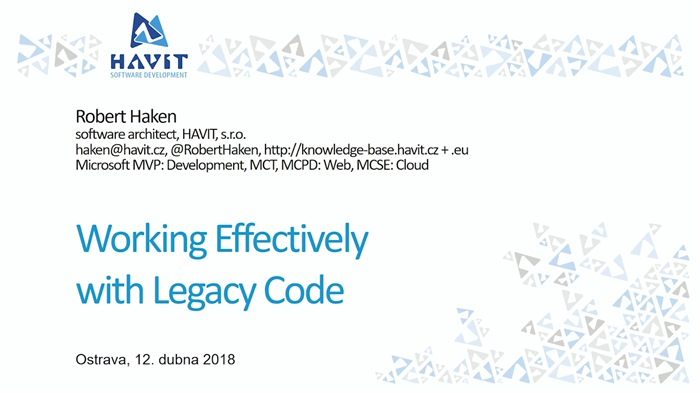 Working effectively with legacy code (.NET)