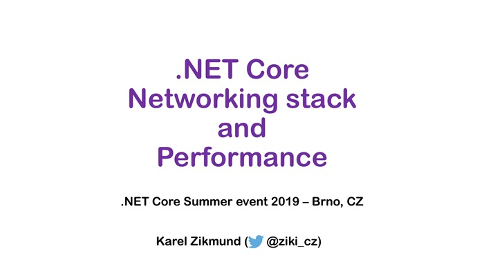 .NET Core Summer event: .NET Core Networking stack evolution to high-performance