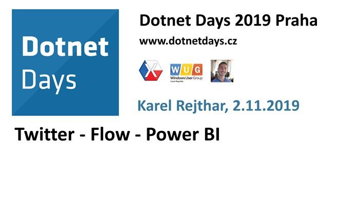 Dotnet Days 2019: Twitter - Flow - Power BI