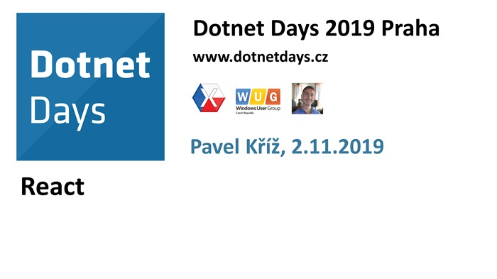 Dotnet Days 2019: React