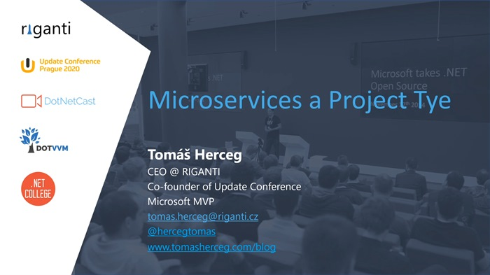 Microservices v .NET Core a Project Tye